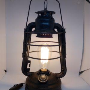 Lampe tempête 220V avec ampoule rétro déco, décoration lumière vintage
